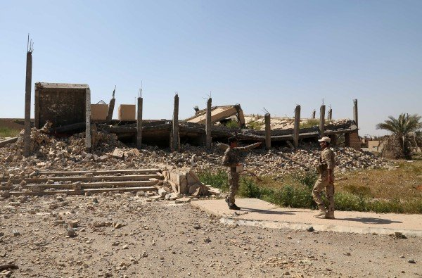Saddam Hussein's grave was almost destroyed in the fighting in Tikrit