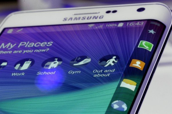 Samsung Galaxy S6 Edge curved screen