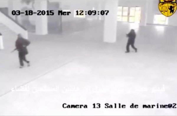 Security video Tunisia Bardo museum attack