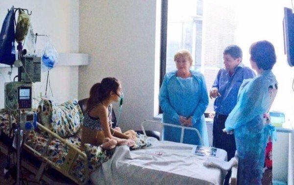 Valentina Maureira President Michelle Bachelet