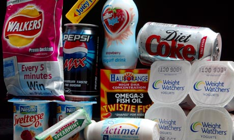 Aspartame food and drinks