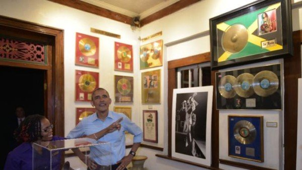 Barack Obama visits Bob Marley museum in Jamaica