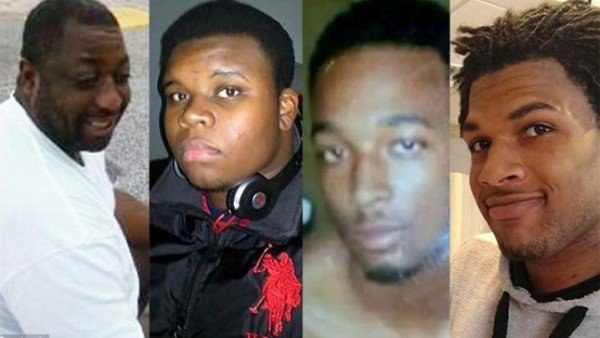 Black men killed by cops