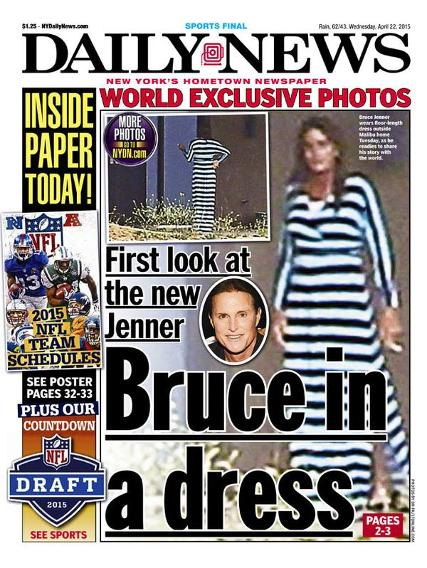 Bruce Jenner in dress