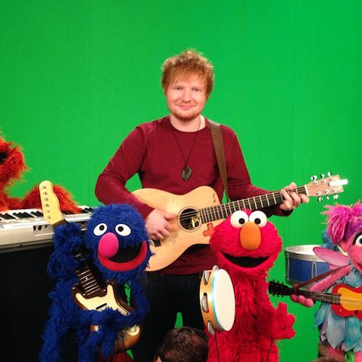 Ed Sheeran sings with Sesame Street gang