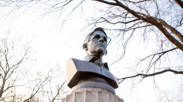 Edward Snowden bust Brooklyn