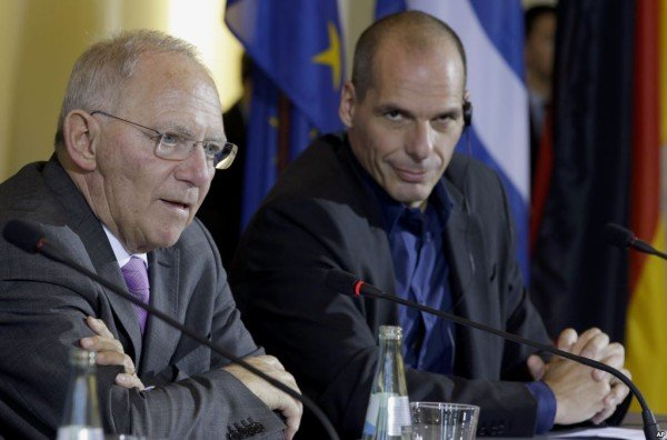 Germany and Greece finance ministers