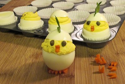 Hatching Chick Deviled Eggs