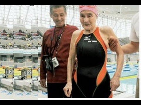 Mieko Nagaoka oldest swimmer
