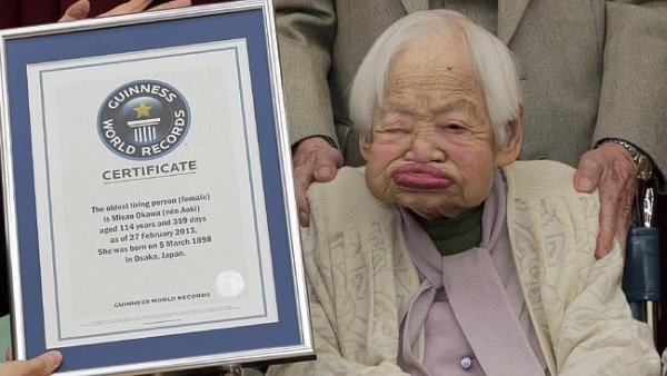 Misao Okawa world's oldest person