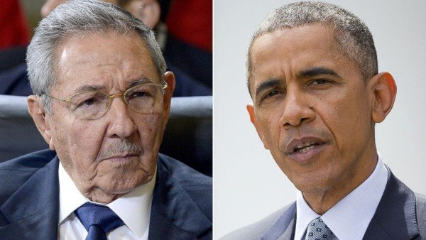 Raul Castro and Barack Obama in Panama