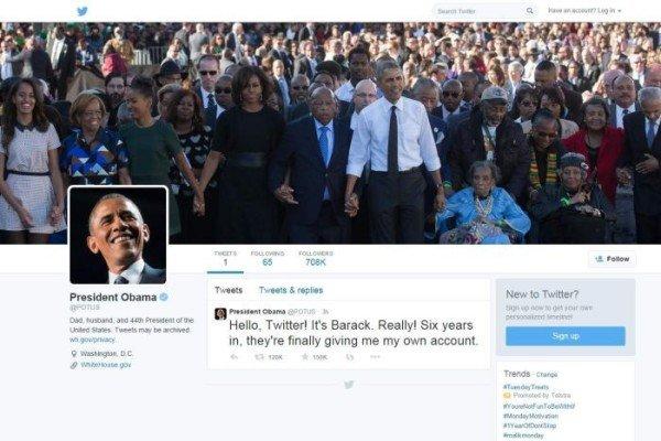 Barack Obama new Twitter account