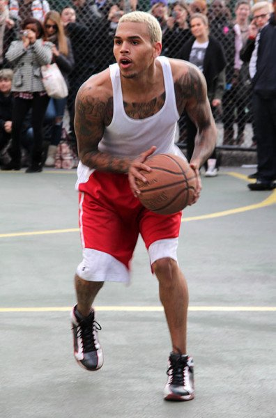Chris Brown Las Vegas basketball brawl