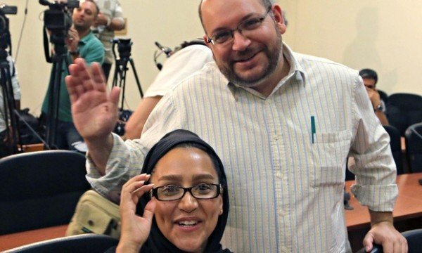 Jason Rezaian and wife Yeganeh Salehi Iran trial