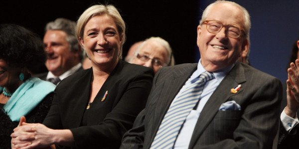 Jean Marie Le Pen and daughter Marine Le Pen
