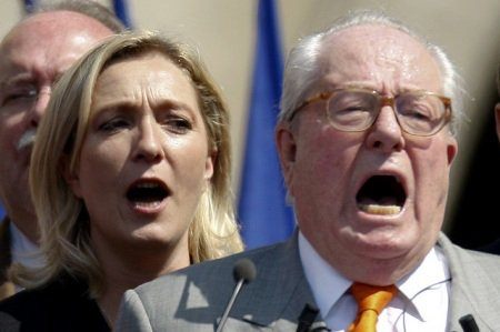 Jean Marie Le Pen and daughter Marine feud