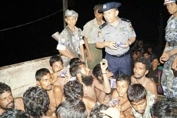Myanmar migrant boat rescue 2015