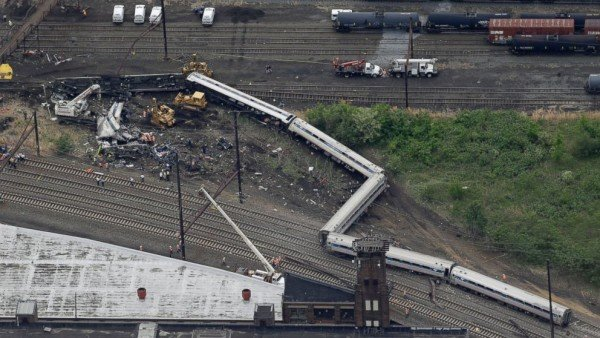 Philadelphia Amtrak train crash May 2015
