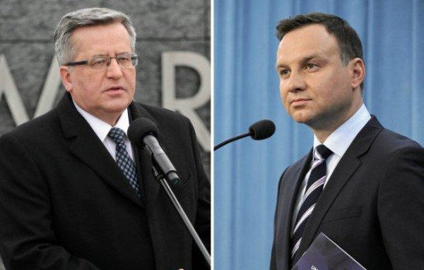 Poland Elections 2015 Andrzej Duda and Bronislaw Komorowski
