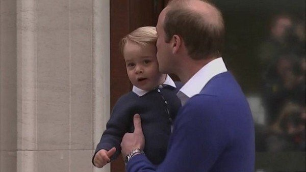 Prince George visits sister at hospital