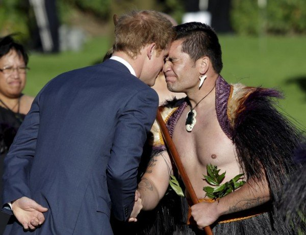 Prince Harry Moari salute New Zealand