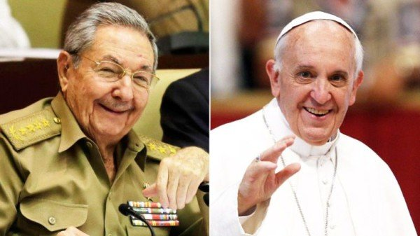 Raul Castro and Pope Francis meeting