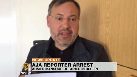Al Jazeera Ahmed Mansour detained in Berlin