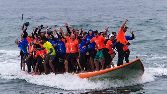 California surfers world record