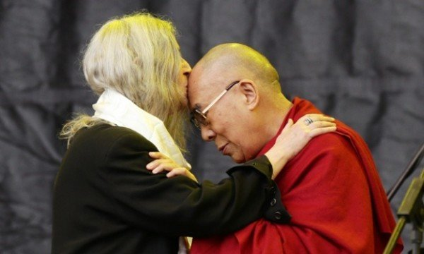 Dalai Lama Joins Patti Smith on Pyramid Stage