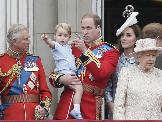 Prince George royal balcony Trooping the Colour