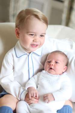 Princess Charlotte and Prince George official portrait 2015