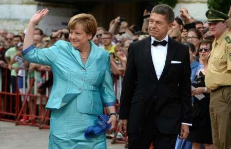 Angela Merkel Wagner Festival 2015