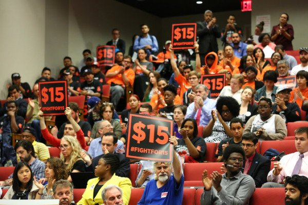 Fight for 15 fast food minimum wage in New York