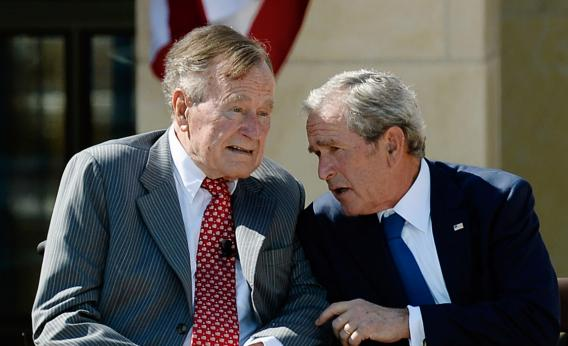 George Bush Sr breaks neck bone