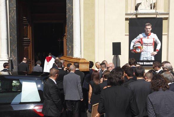 Jules Bianchi funeral 2015