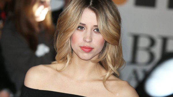 Peaches Geldof arrives at the BRIT Awards 2014 at the O2 Arena in London on Wednesday, Feb. 19, 2014. (Photo by Jon Furniss Photography/Invision/AP)