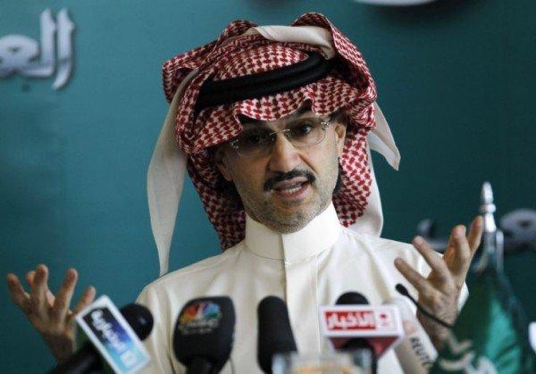 Prince Alwaleed bin Talal of Saudi Arabia donates personal wealth