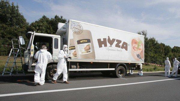 Austria migrant truck