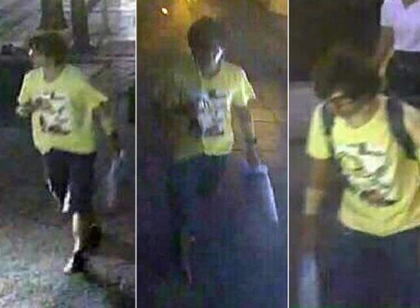 Bangkok bomb attack suspect security camera