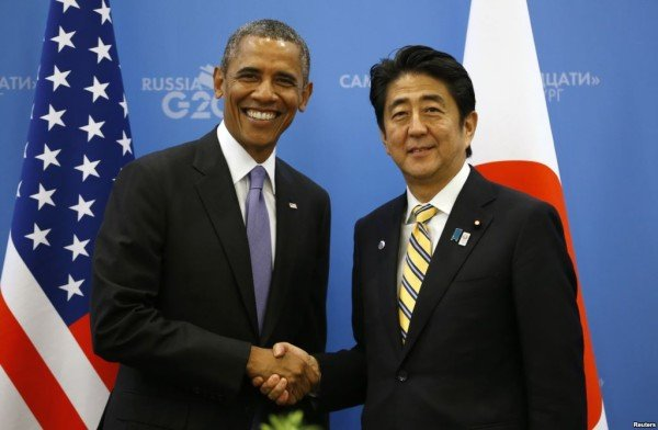 Barack Obama apolgizes to Shinzo Abe after spying claims