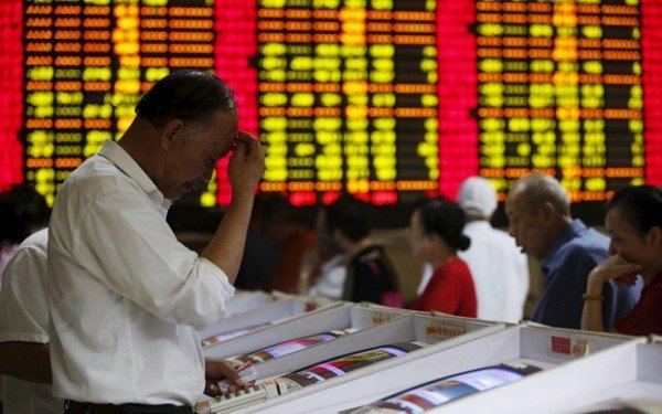 Chinese shares trade low August 2015