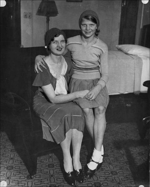 Nan Britton and daughter Elizabeth Ann