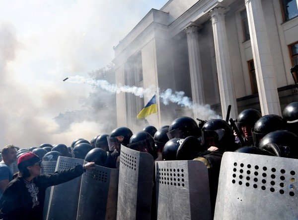 Ukraine parliament protest