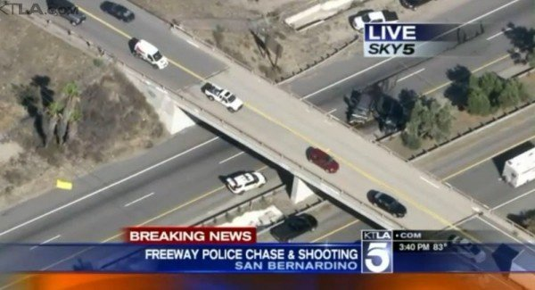 California wrong way driver shot dead from helicopter