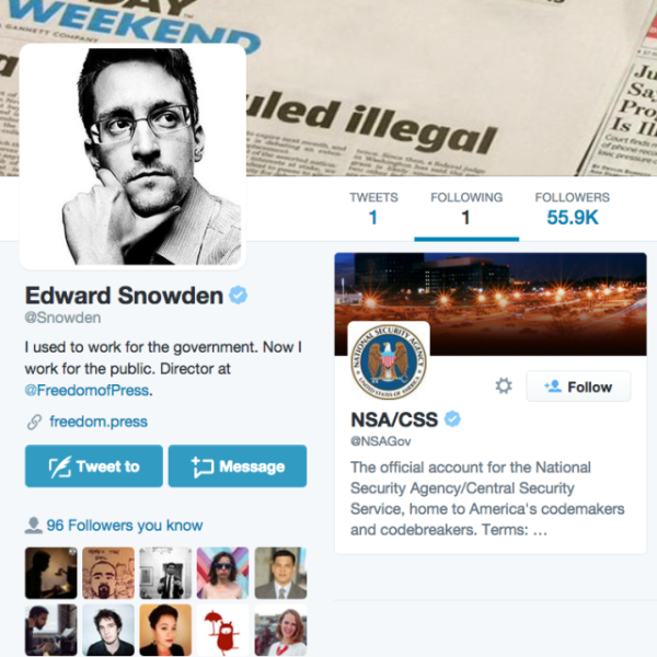 Edward Snowden Twitter account