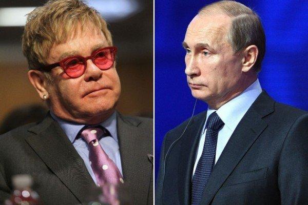 Elton John and Vladimir Putin gay rigts row