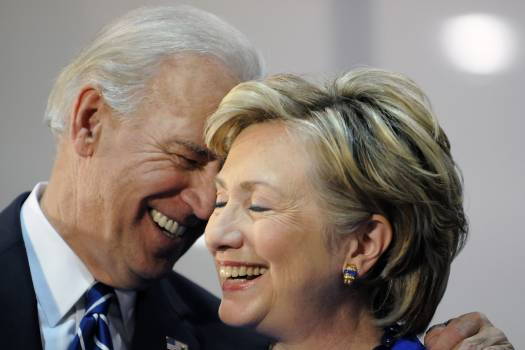 Joe Biden and Hillary Clinton in polls