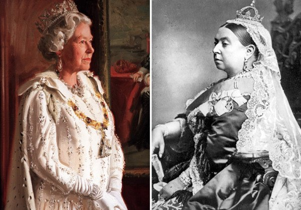 Queen Elizabeth II and Queen Victoria record