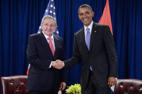 Raul Castro and Barack Obama in New York