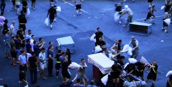 West Point cadets pillow fight